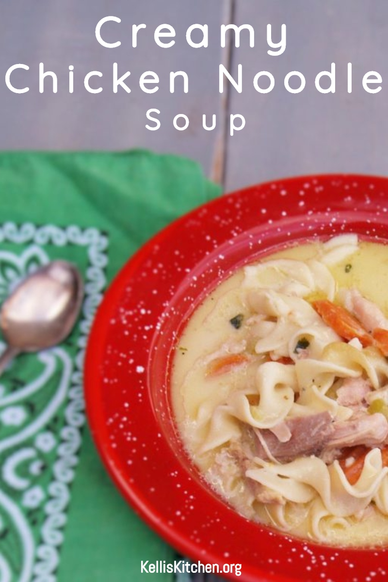 CREAMY CHICKEN NOODLE SOUP via @KitchenKelli