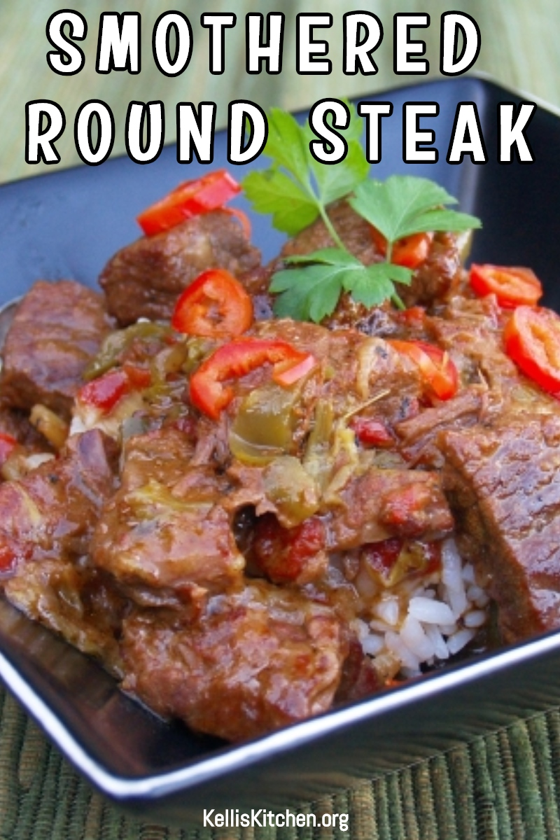 SMOTHERED ROUND STEAK via @KitchenKelli