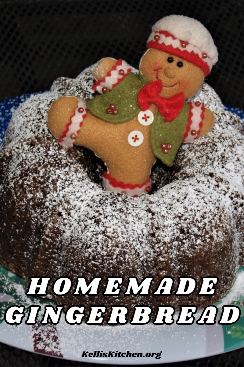 HOMEMADE GINGERBREAD via @KitchenKelli