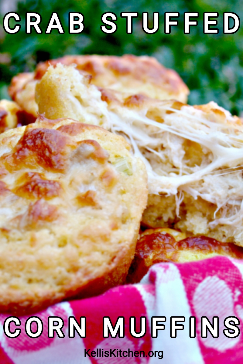 CRAB STUFFED CORN MUFFINS via @KitchenKelli