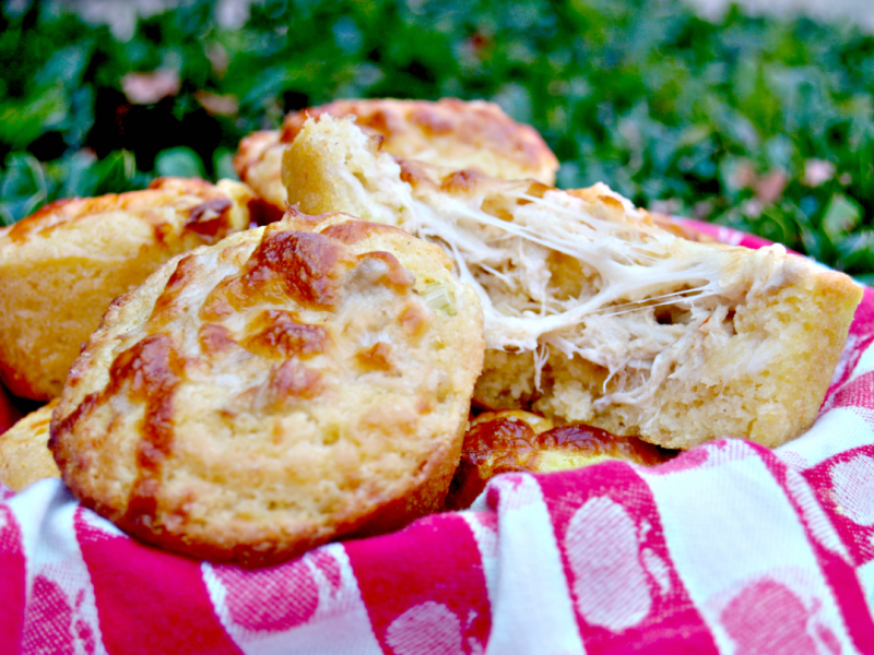 Crab Stuffed Corn Muffins for #MuffinMonday