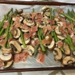 Sheet Pan Asparagus with Mushrooms and Prosciutto