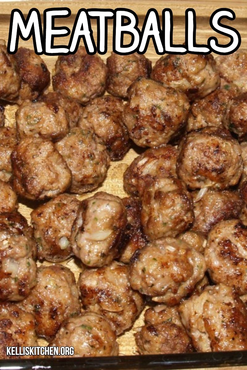 Meatballs Recipe via @KitchenKelli