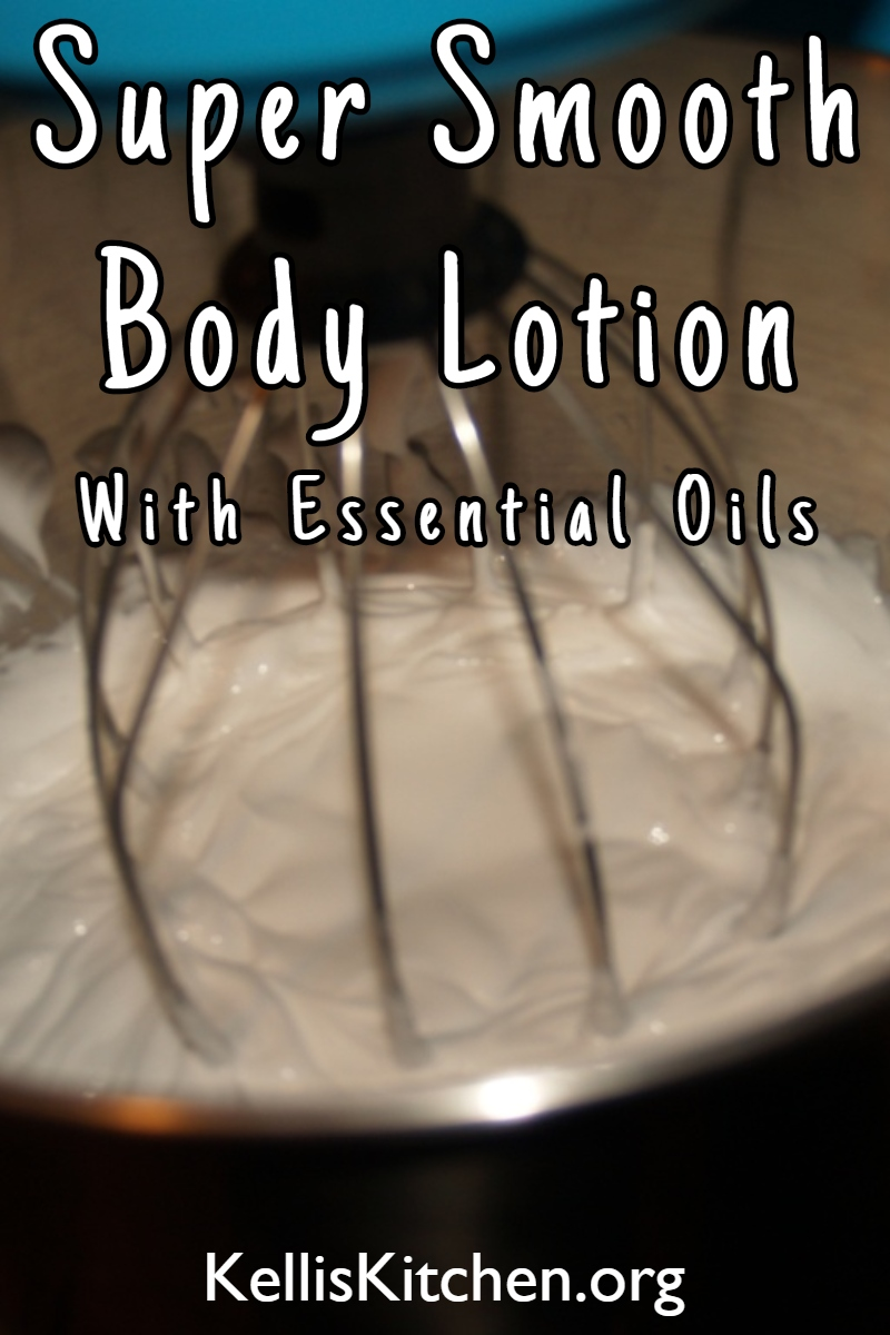 Super Smooth Body Lotion with Essential Oils makes a great, inexpensive DIY Christmas Presents for family and friends. via @KitchenKelli