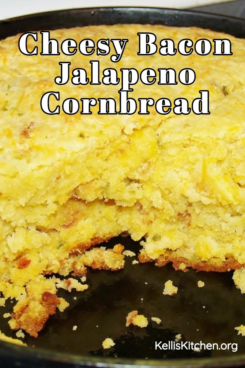 Best Cornbread Ever: Cheesy Bacon Jalapeno Cornbread via @KitchenKelli