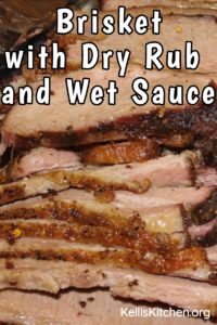 Brisket with Dry Rub and Wet Sauce