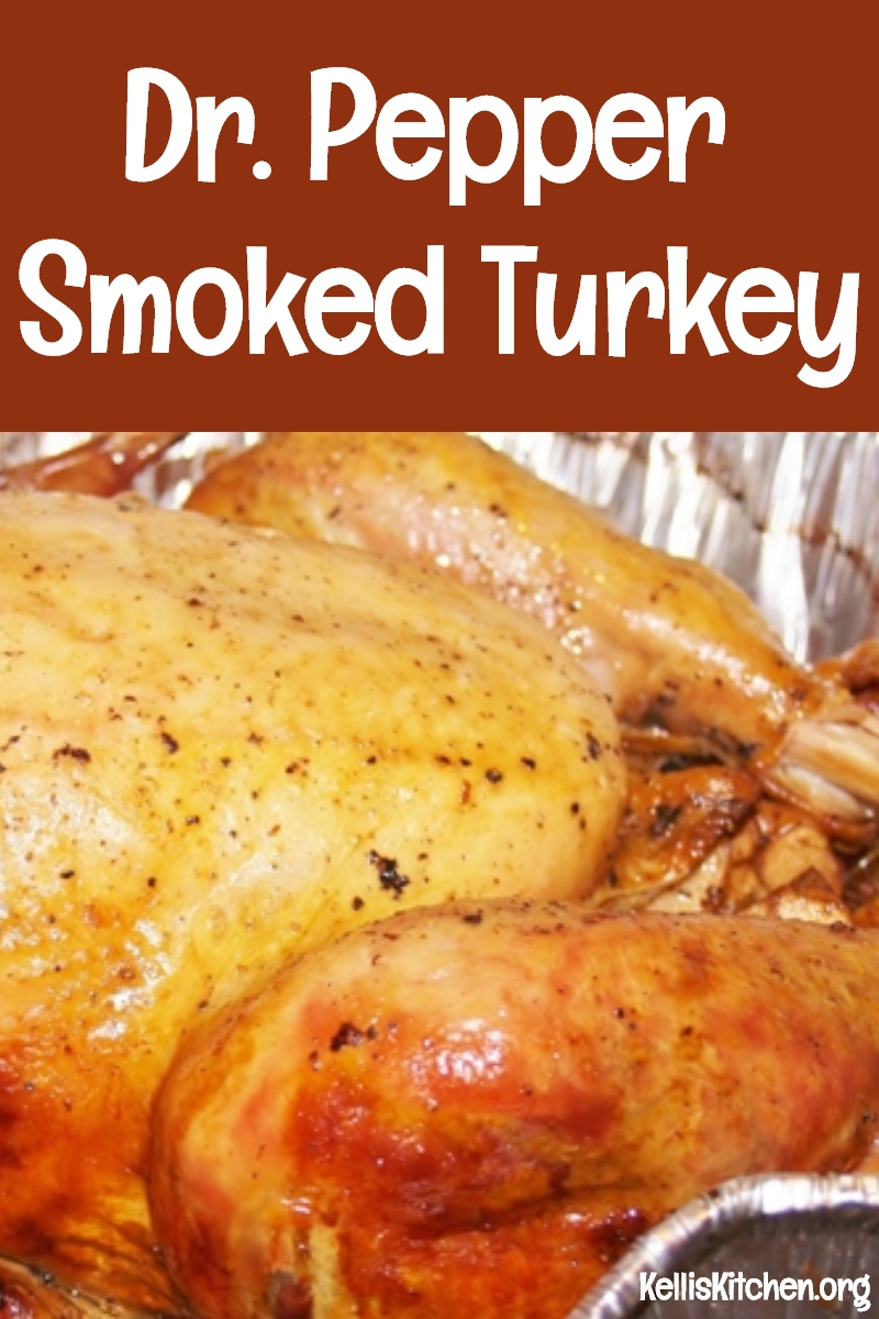 Dr. Pepper Smoked Turkey via @KitchenKelli