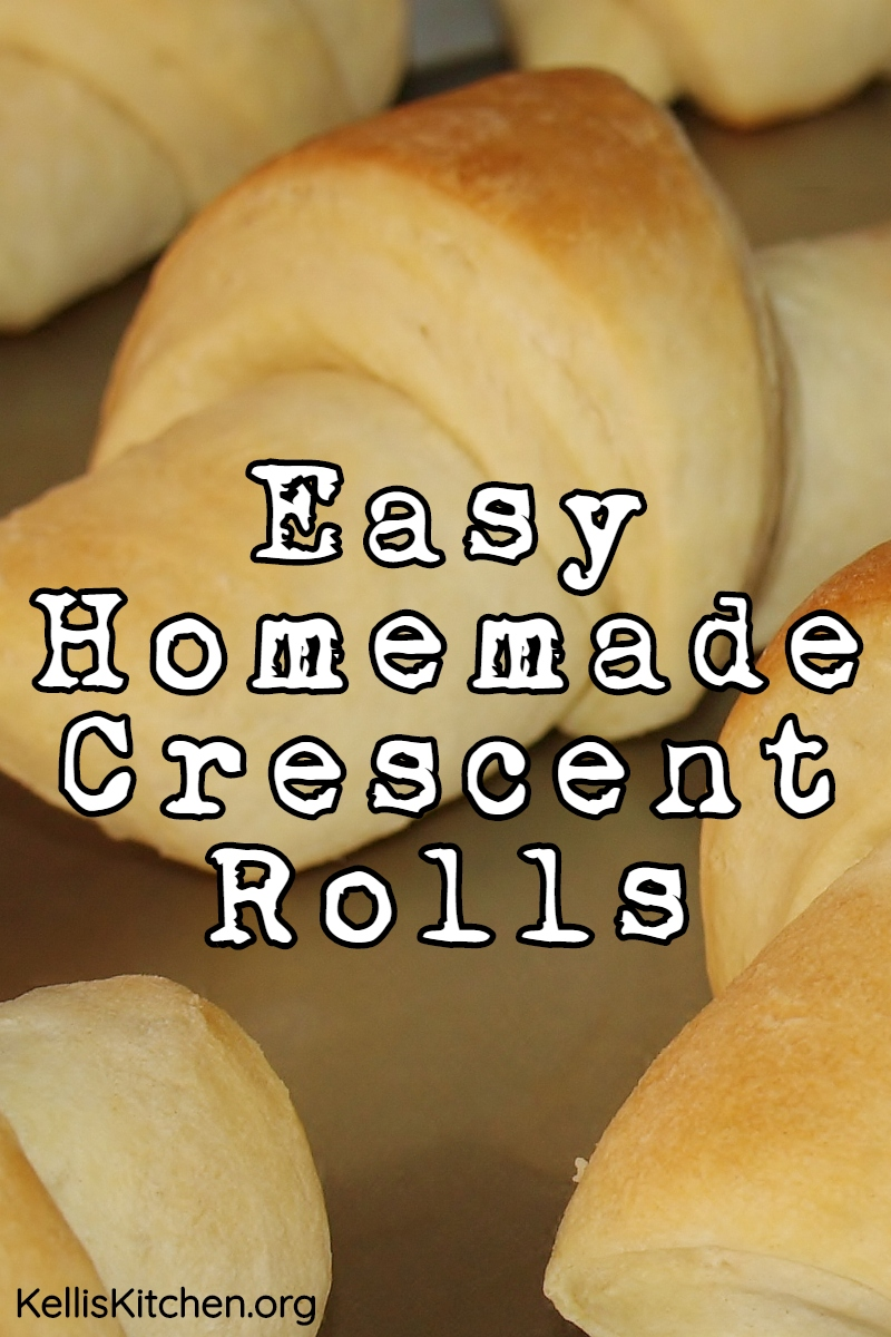 Easy Homemade Crescent Rolls via @KitchenKelli
