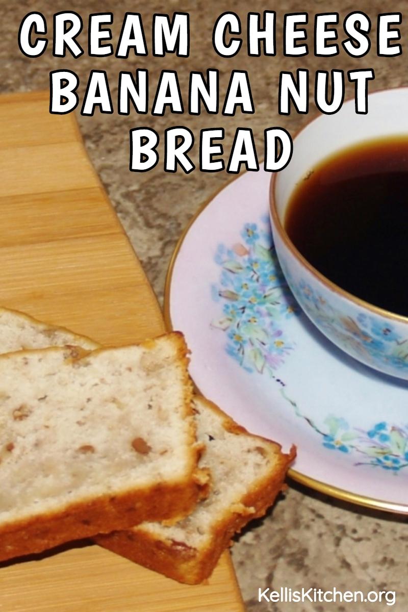 OLD FASHIONED CREAM CHEESE BANANA NUT BREAD via @KitchenKelli