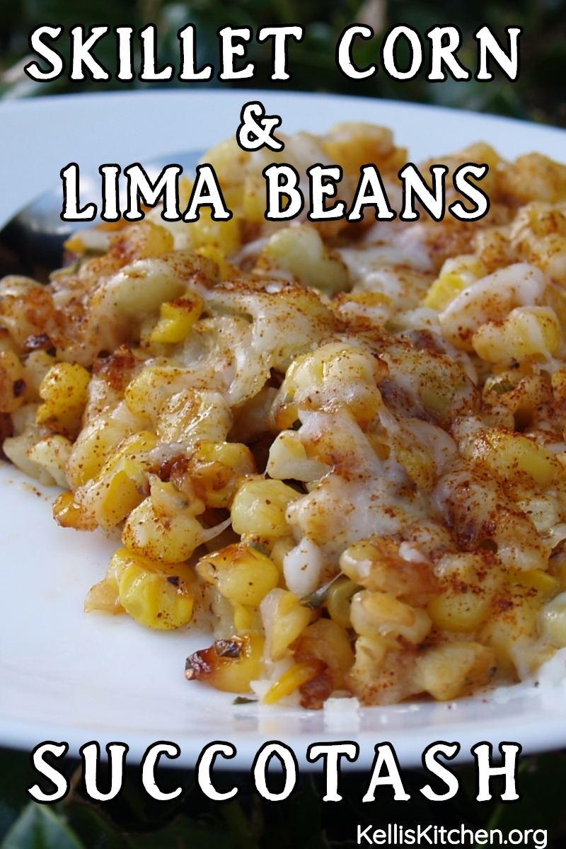 SKILLET CORN AND LIMA BEANS SUCCOTASH via @KitchenKelli