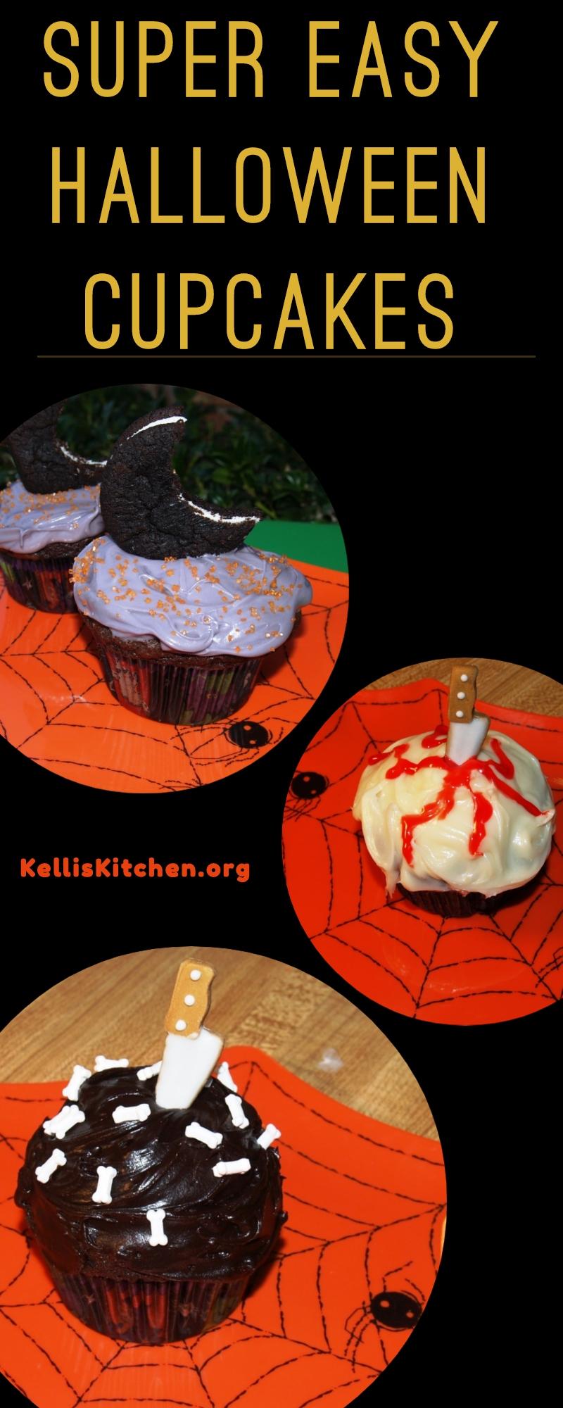 SUPER EASY HALLOWEEN CUPCAKES via @KitchenKelli