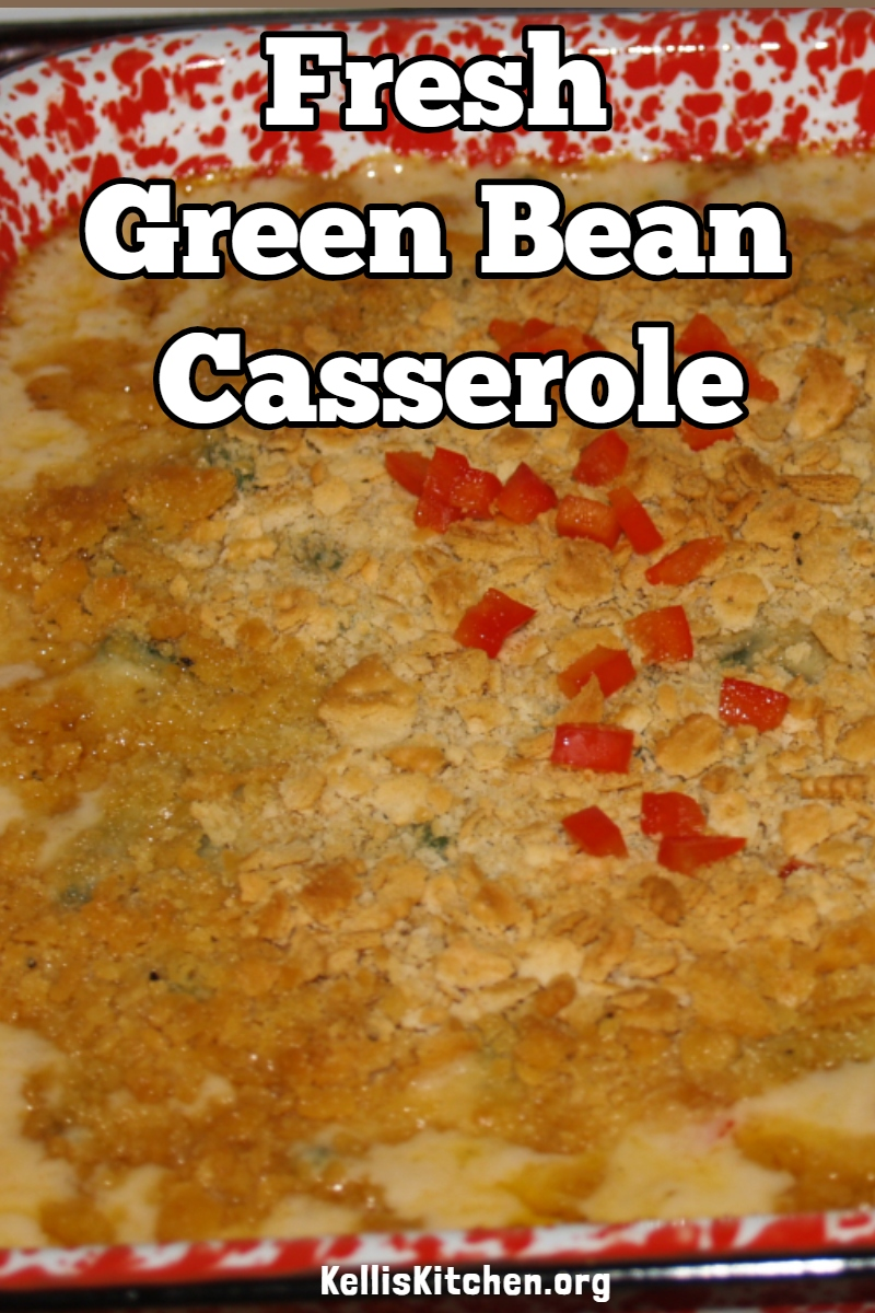 Fresh Green Bean Casserole via @KitchenKelli