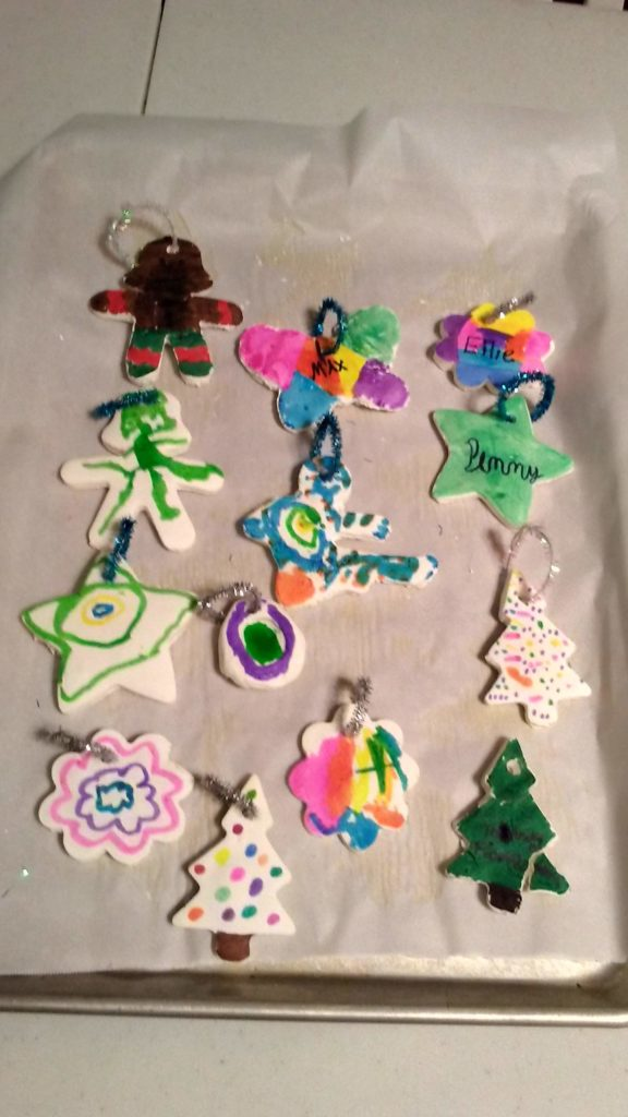 Cornstarch Christmas Ornaments