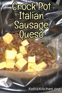 Crock Pot Italian Sausage Queso