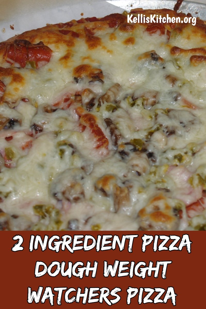 2 Ingredient Pizza Dough and Weight Watchers Pizza via @KitchenKelli