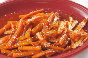 Roasted Sesame Carrots