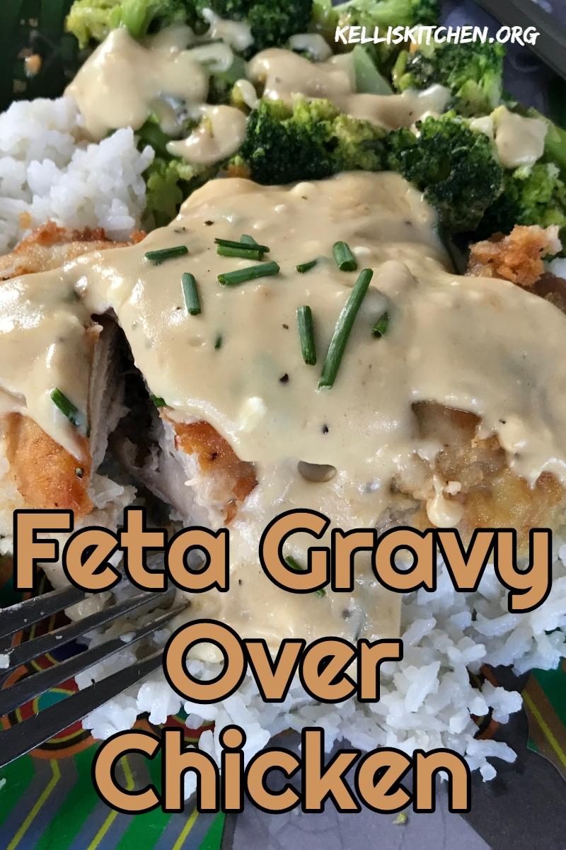 Feta Gravy Over Chicken via @KitchenKelli