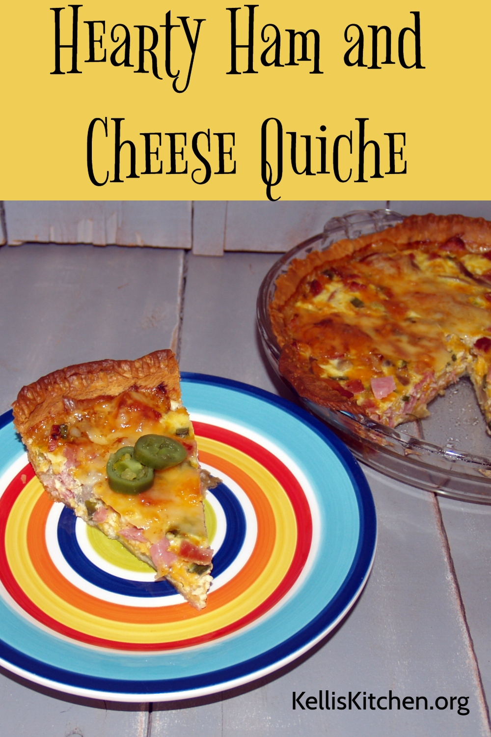 Hearty Ham and Cheese Quiche via @KitchenKelli